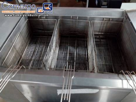 Stainless steel fryer 3 tanks