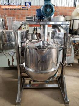Steamed stainless steel pan 200 L