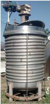Stainless steel industrial tank mixer