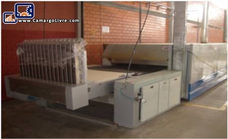 Industrial electrical Rotary oven coupled with cooling mat manufacturer Fornimaq