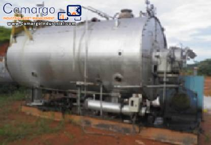Industrial boiler for steam generation CBC