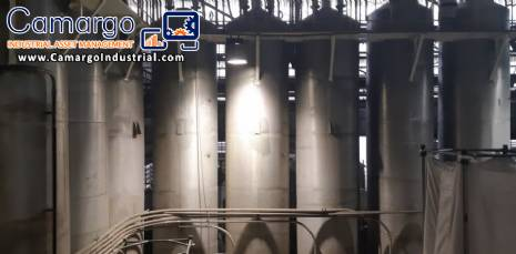 Stainless steel silo 14 m³