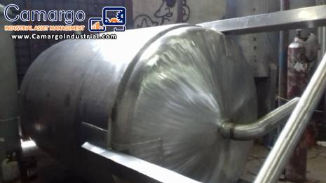 Stainless steel mixing tank 3000 L
