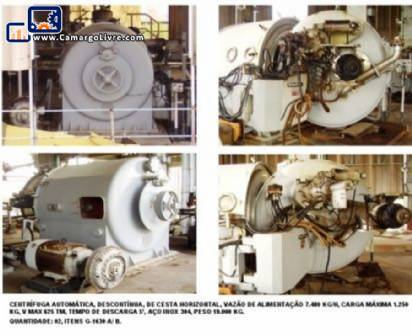 Stainless steel centrifuges