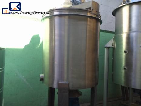 Stainless steel storage tank for 1200 L