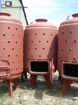 5 vertical cylindrical Tanks in carbon steel 4000 L each
