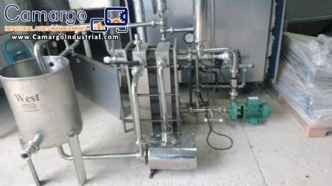Plate heat exchanger for pasteurization 2.000 L West equipamentos